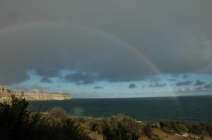 Rainbow Over Whale Camp - Photo by Vicky Rowntree