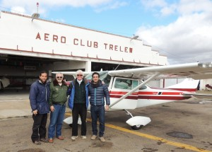 Aerial survey team in 2013