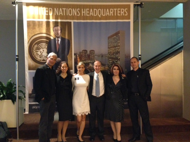 The team at the U.N.