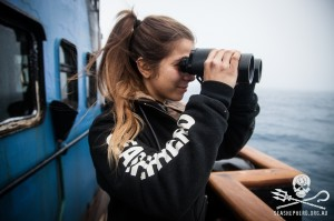 Eva Hidalgo on the Steve Irwin