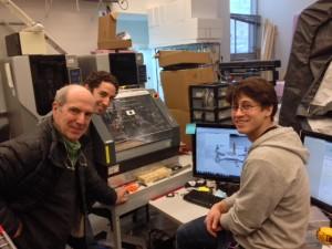 Iain Kerr with Olin College robotics students