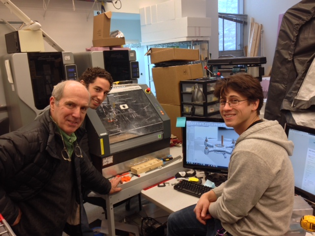 Iain Kerr with Olin College robotics students