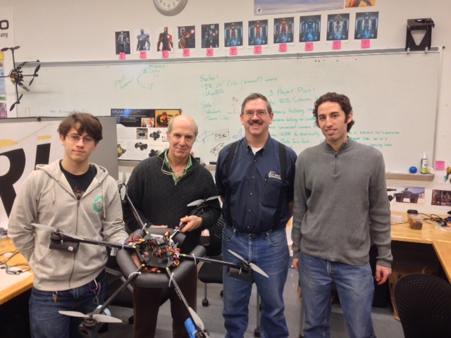 Dr. Drew Bennett with Iain Kerr and students