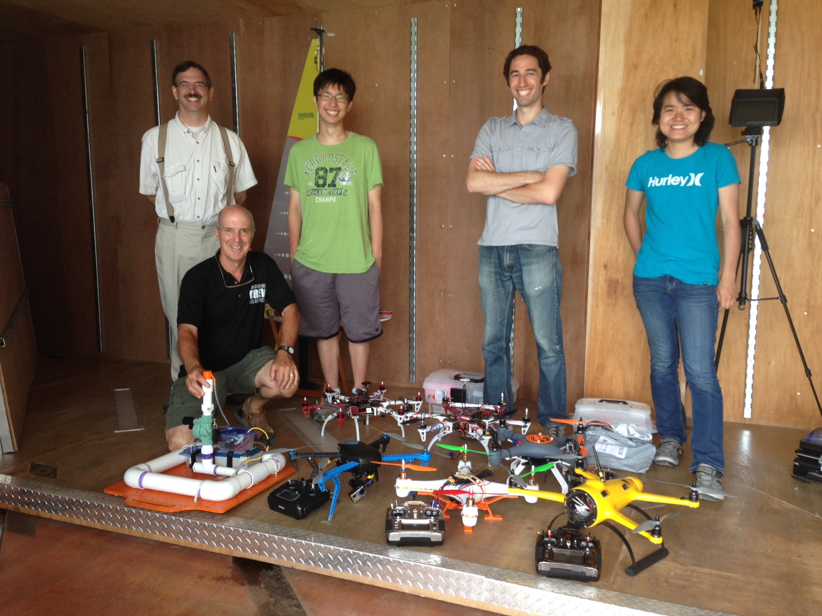 Olin College robotics students at Ocean Alliance