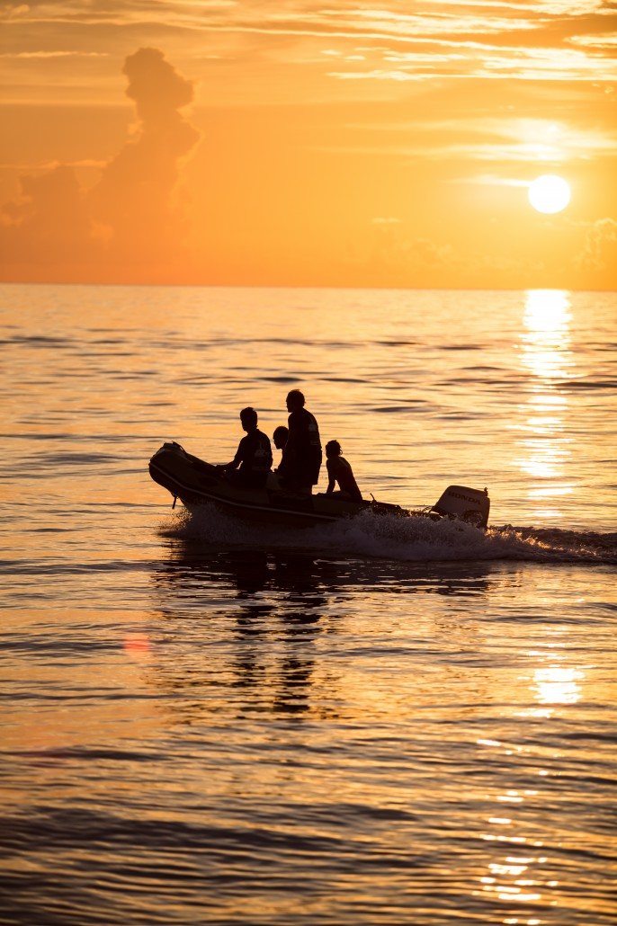 Odyssey Dinghy sunset