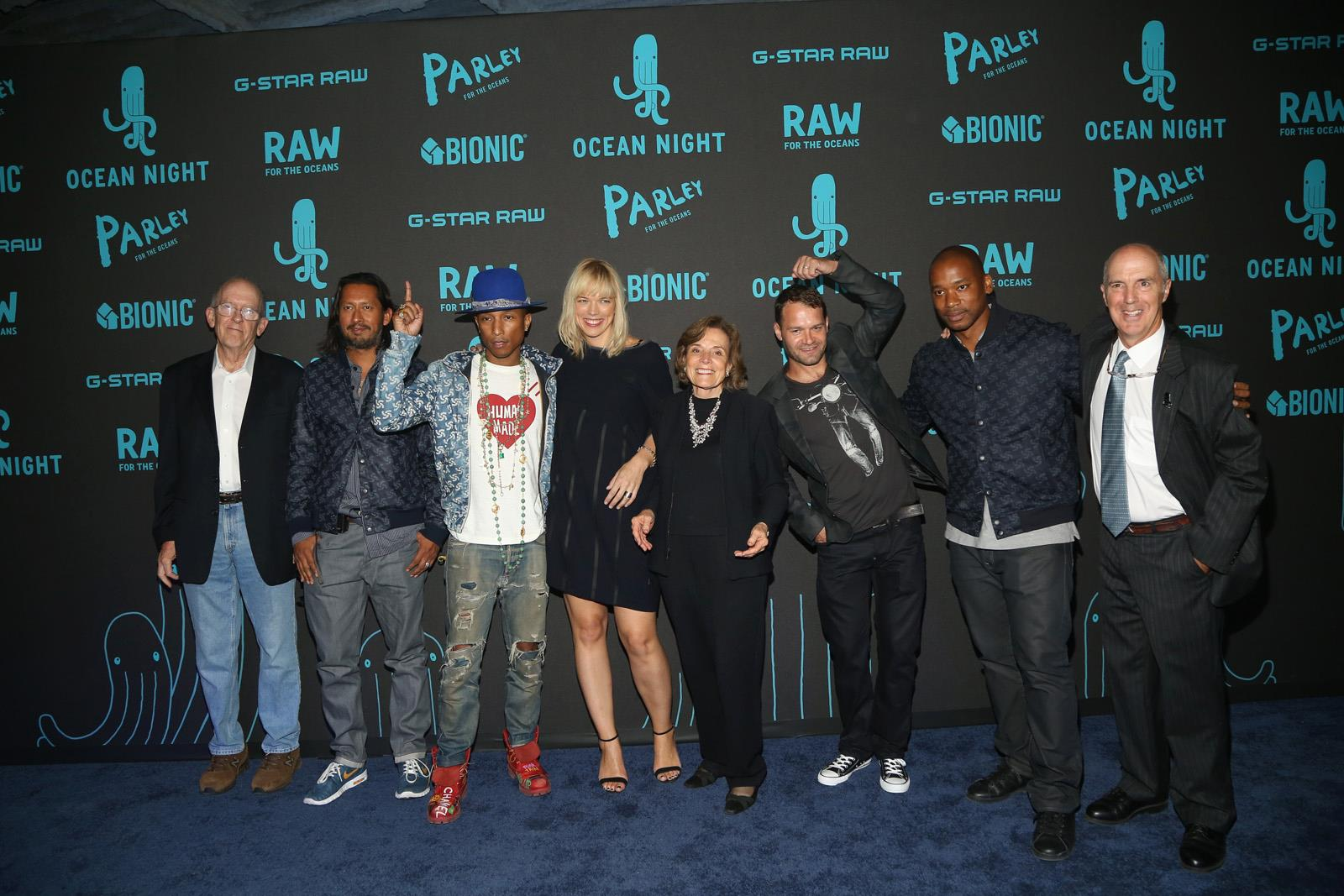 Roger Payne & Iain Kerr with Pharrell and Sylvia Earle
