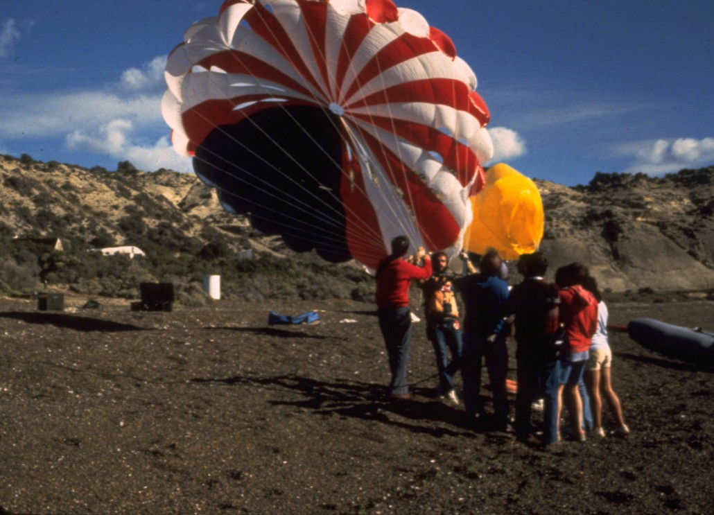 Iain trying out a parasail in Argentina