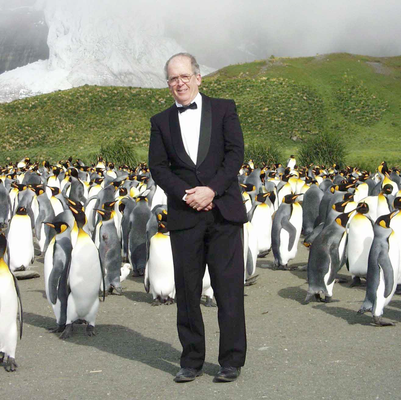Roger Payne developing a benign research tool in Antarctica – the penguin suit