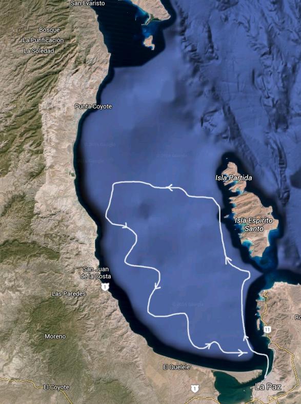 Bahia La Paz route