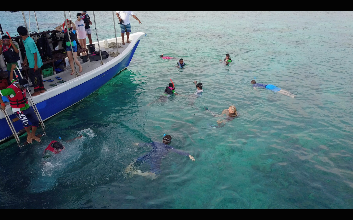 Iain and other Parley Ocean School attendees took more than 60 Maldivian school kids out on a reef to snorkel -- some had never snorkeled before.